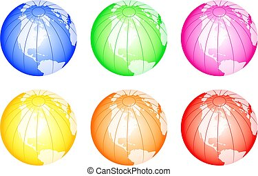 Colourful Globes