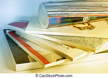 colourful glossy magazines