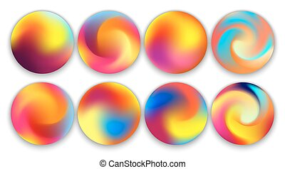 Colourful Gradient Orbs, Illustrations Set