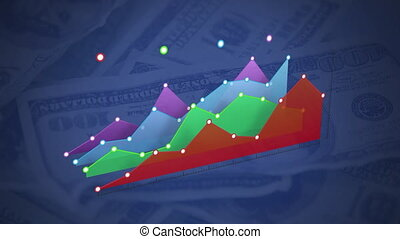 Colourful graph on rotating dollar bills