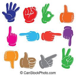 colourful, hænder