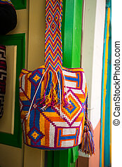 typical traditional handcrafted Colombian shoulder bag