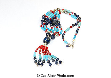 Colourful handmade necklace