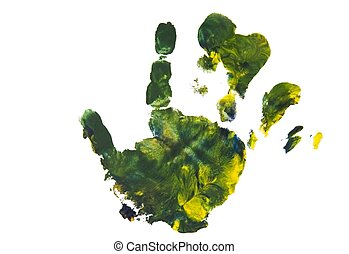 Colourful handprint of a child