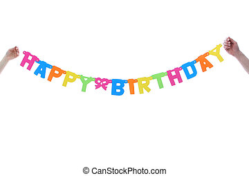 Colourful Happy Birthday Banner - Colourful Happy Birthday...