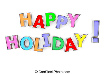 Colourful Happy Holiday