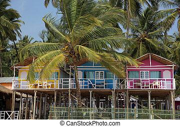 Colourful hats in Goa, India