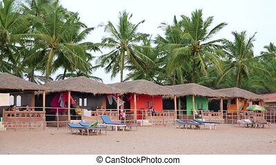 Colourful hats in holiday resort