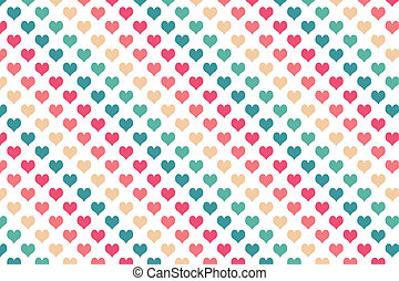 Colourful heart pattern on white background