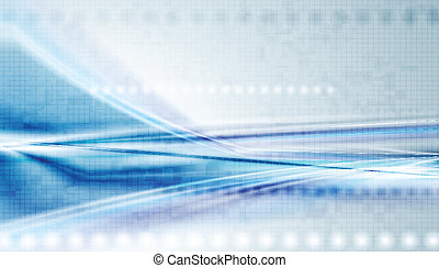 Colourful hi-tech vector background - Shiny blue technology...