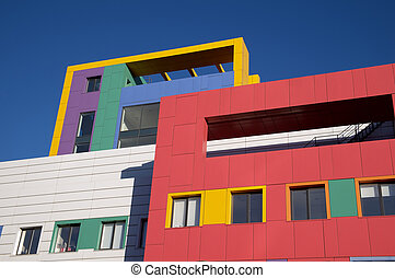 Colorful details of modern architecture