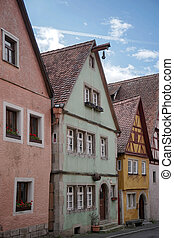 Colourful houses in Rothenburg