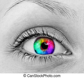 eye - colourful human eye