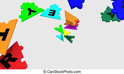 colourful letters forming strategy