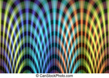 Colourful light trails pattern