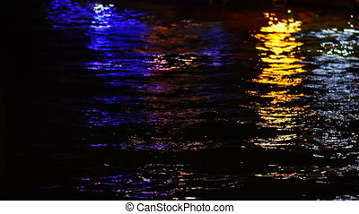 Colourful Lights from Pier on the Water