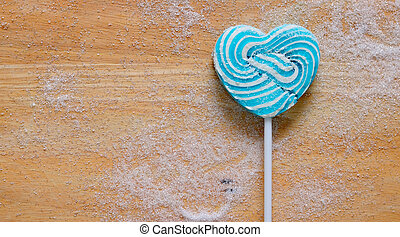Colourful lollipop