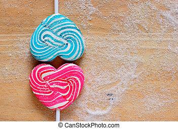 Colourful lollipop