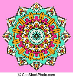 colourful mandala background design 3005