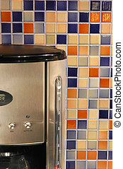 Colourful Mosaic - Mosaic ceramic tiles with coffeemaker