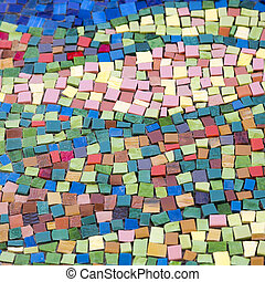 Colourful mosaic pattern