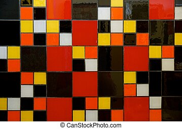 colourful mosaic tiles