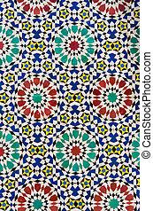 Colourful oriental mosaic.
