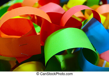 Colourful paper chain