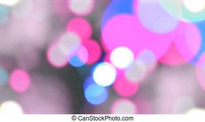 Colourful party bokeh