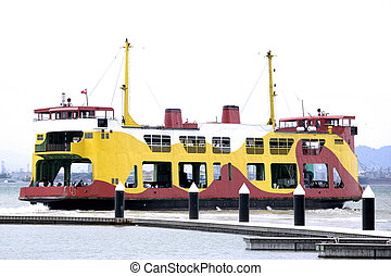 Colourful Passenger and Car Ferry - Colourful passenger and...