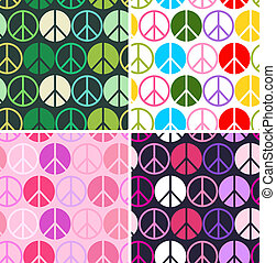 colourful peace seamless pattern