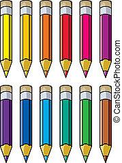 colourful pencils - vector colourful pencils clipart