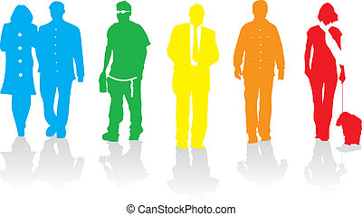 colourful people