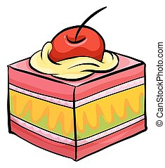 Colourful piece of cake