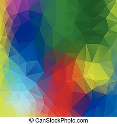 Colourful poly abstract background