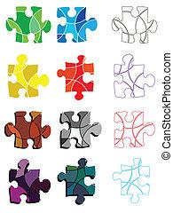 colourful puzzle pieces