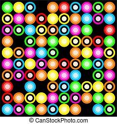 Colourful Retro Ring Design