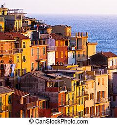 Colourful Riomaggiore village of Cinque Terre - Italy.