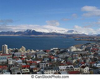 picture was taken from Hallgrimskirkja in Reykjavik Iceland