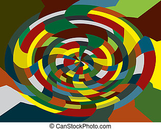 Colourful round mosaic