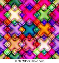 Colourful seamless mosaic