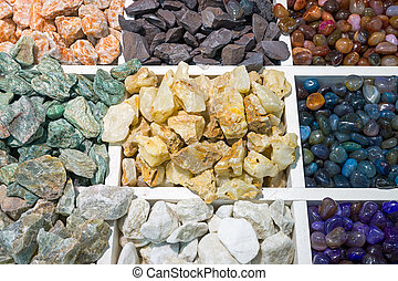 Colourful semi-precious stones - A variety of colourful...