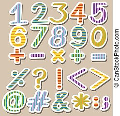 Colourful set of numbers