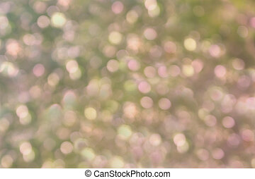 Colourful spark and blow natural bokeh in wonderful fantasy pink and yellow green pastel background