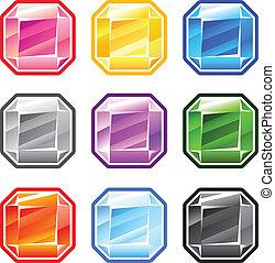 Colourful Square Diamonds
