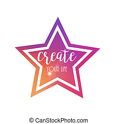Colourful Star Frame. Vector Background, Backdrop and Design Element for Your Design.