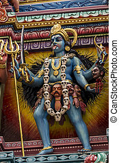 Colourful statue in a Hindu Temple