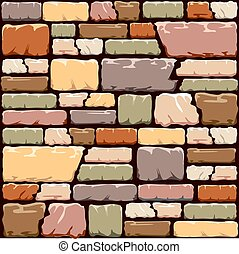 Colourful stone wall background