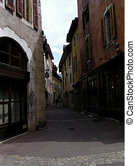 Colourful  street of Annecy