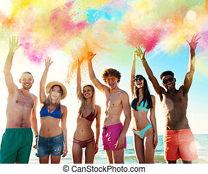 Colourful summer for a group of friends
